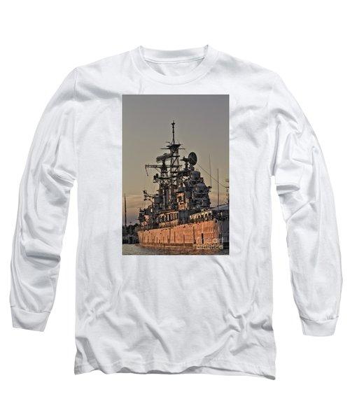 U.s.s Little Rock Long Sleeve T-Shirt by Jim Lepard