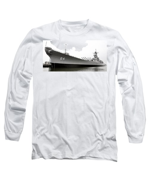 Uss Wisconsin - Port-side Long Sleeve T-Shirt by Christopher Holmes