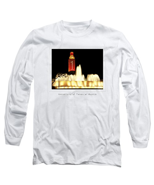 Ut Tower Poster Long Sleeve T-Shirt by Marilyn Hunt