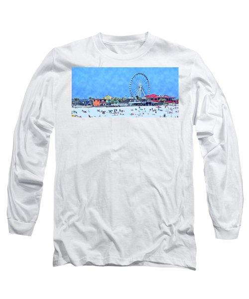 Vacation Long Sleeve T-Shirt by Kathy Bassett