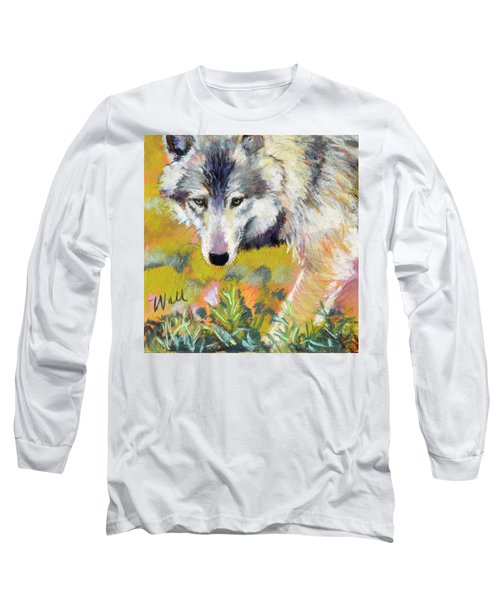 Long Sleeve T-Shirt featuring the pastel Vagabond by Pattie Wall