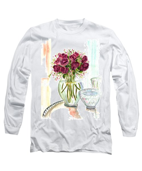 Valentines Crystal Rose Long Sleeve T-Shirt