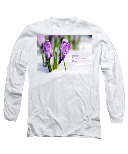 Valentines Day Crocuses Long Sleeve T-Shirt