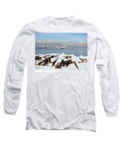 Vancouver Winter Long Sleeve T-Shirt by Brian Chase