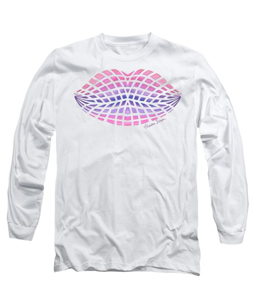 Vasarely Style Lips Long Sleeve T-Shirt