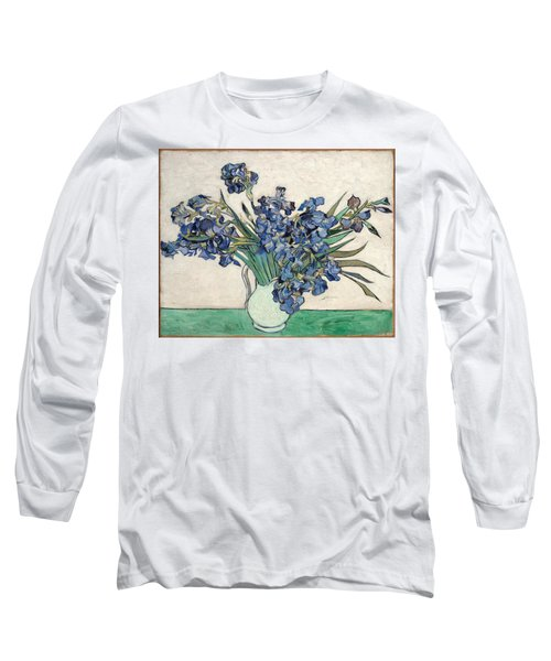 Long Sleeve T-Shirt featuring the painting Vase With Irises by Van Gogh