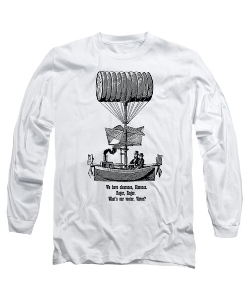 Vector Victor Vintage Airship Long Sleeve T-Shirt by Barbara St Jean