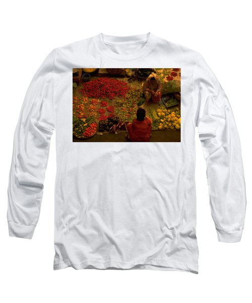 Vegetable Market In Malaysia Long Sleeve T-Shirt