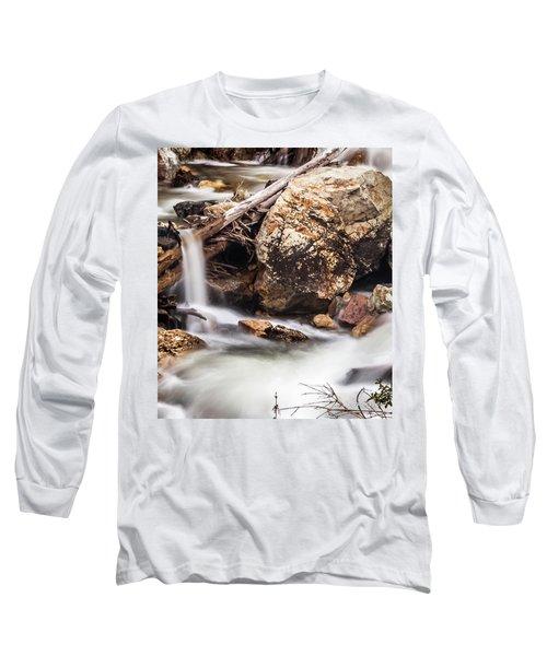 Velvet Falls - Rocky Mountain Stream Long Sleeve T-Shirt