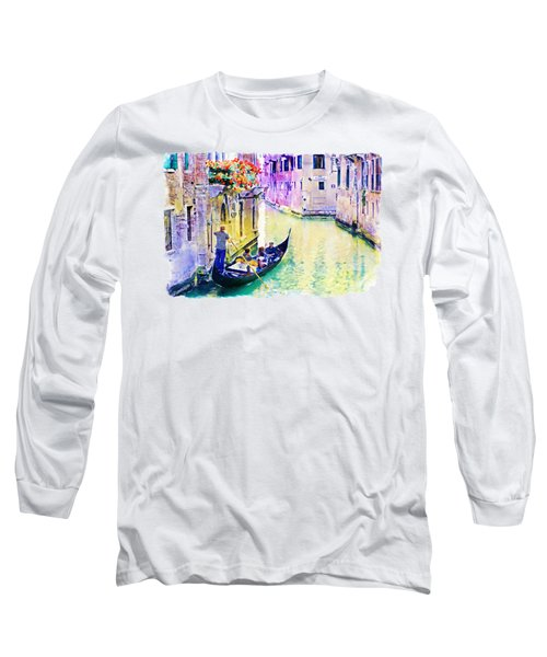 Venice Canal Long Sleeve T-Shirt by Marian Voicu