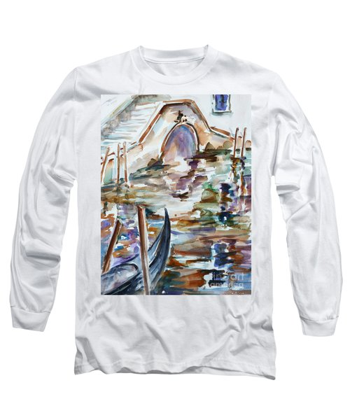 Long Sleeve T-Shirt featuring the painting Venice Impression I by Xueling Zou