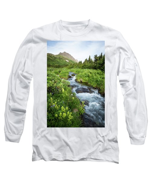 Verdant Mountain Stream Long Sleeve T-Shirt