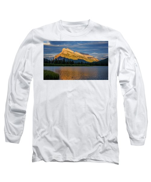 Vermillion Lakes And Mt Rundle Long Sleeve T-Shirt