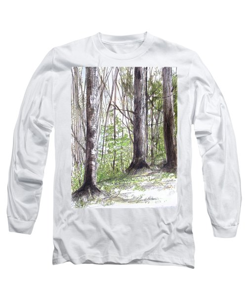 Vermont Woods Long Sleeve T-Shirt by Laurie Rohner