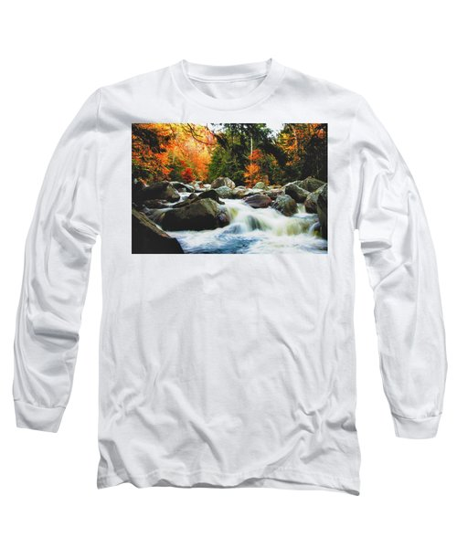 Vermonts Fall Color Rapids Long Sleeve T-Shirt