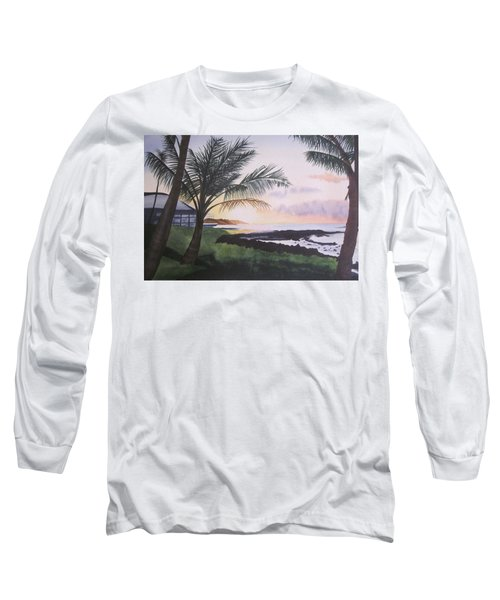 Long Sleeve T-Shirt featuring the painting Version 2 by Teresa Beyer