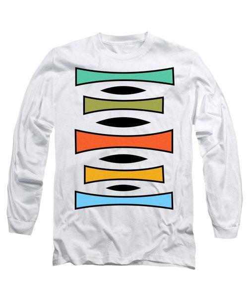 Vertical Trapezoids Transparent Long Sleeve T-Shirt