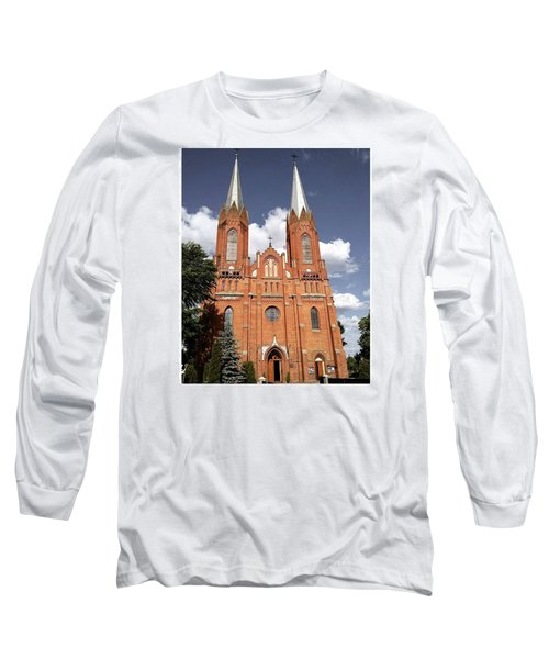 Very Old Church In Odrzywol, Poland Long Sleeve T-Shirt