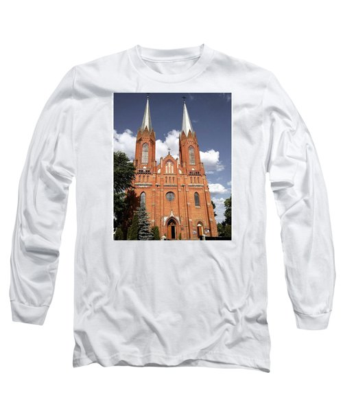 Very Old Church In Odrzywol, Poland Long Sleeve T-Shirt