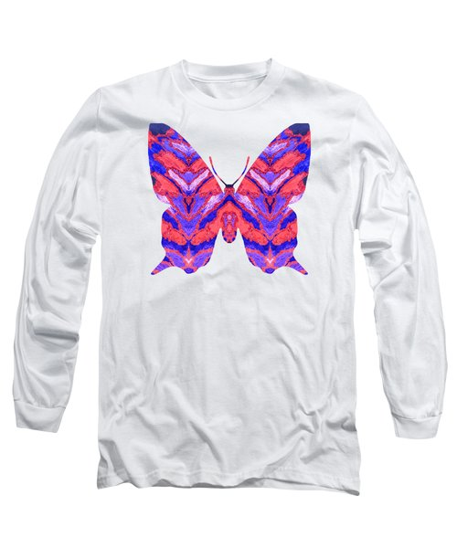 Vibrant Butterfly  Long Sleeve T-Shirt