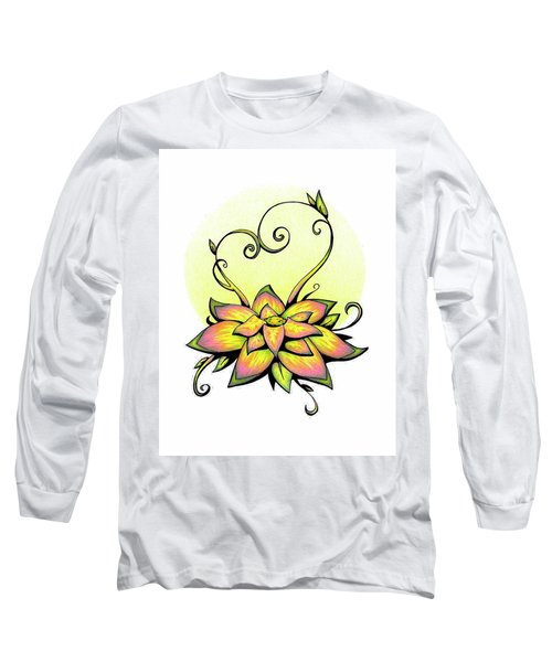 Vibrant Flower 8 Long Sleeve T-Shirt