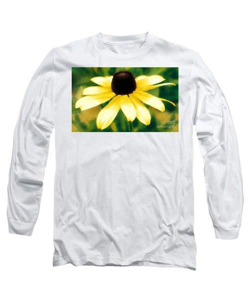 Vibrant Yellow Coneflower Long Sleeve T-Shirt by Judy Palkimas