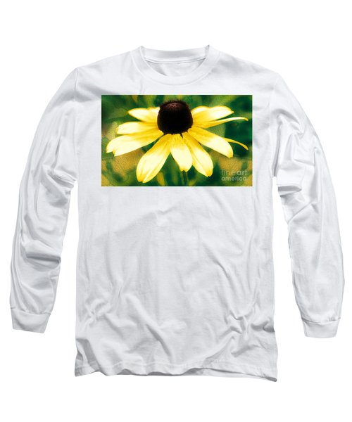 Vibrant Yellow Coneflower Long Sleeve T-Shirt