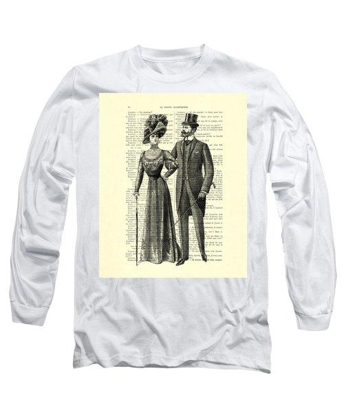 Victorian Couple Long Sleeve T-Shirt