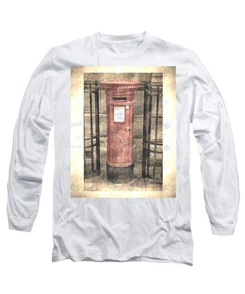 Victorian Red Post Box Long Sleeve T-Shirt