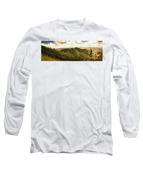 View From Halfway Up Mount Zeehan Long Sleeve T-Shirt