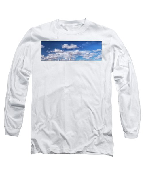 View Of A Phone Pole Long Sleeve T-Shirt by Gary Warnimont