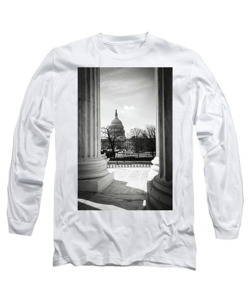 View Of Capitol Hill Through The Supreme Court Long Sleeve T-Shirt