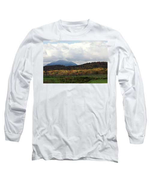 View Of Sharp Top In Blue Ridge Mountains Long Sleeve T-Shirt