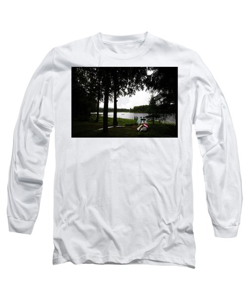 Long Sleeve T-Shirt featuring the photograph View Of The Pond by David Patterson