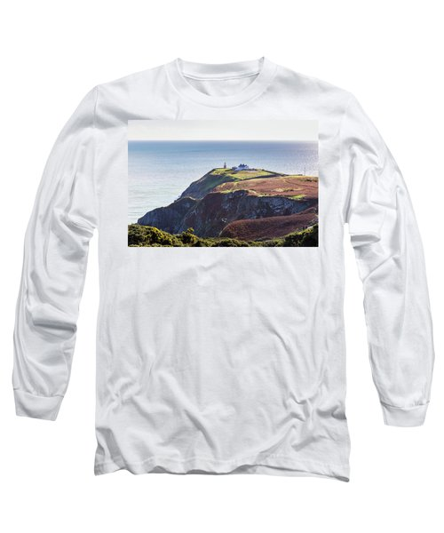 View Of The Trails On Howth Cliffs And Howth Head In Ireland Long Sleeve T-Shirt by Semmick Photo
