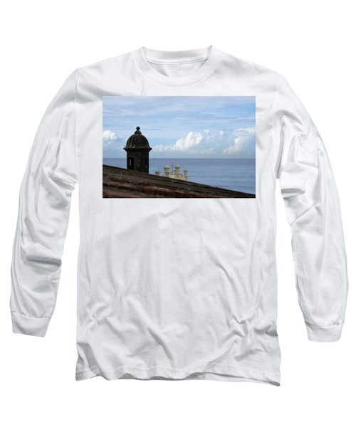 View To The Sea From El Morro Long Sleeve T-Shirt by Lois Lepisto