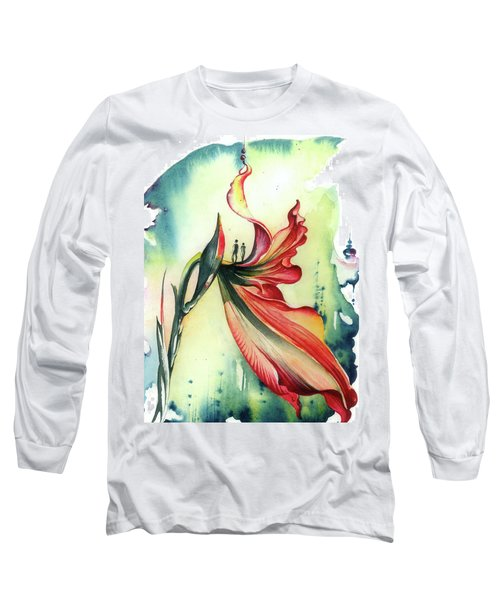 Long Sleeve T-Shirt featuring the painting Viewpoint by Anna Ewa Miarczynska