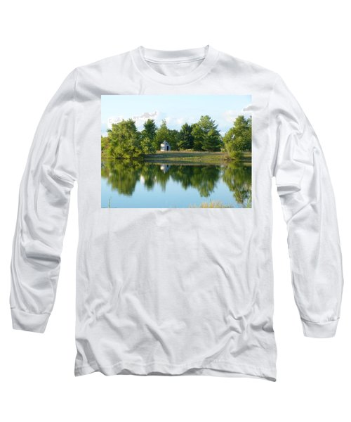 Village In Ohio Long Sleeve T-Shirt by Donald C Morgan
