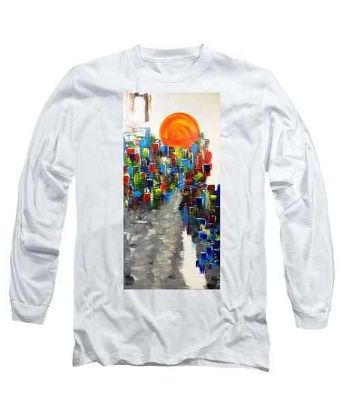 Village On A Cliff Long Sleeve T-Shirt