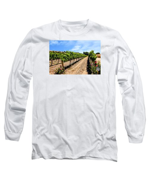 Vines And Roses Long Sleeve T-Shirt by Chris Smith