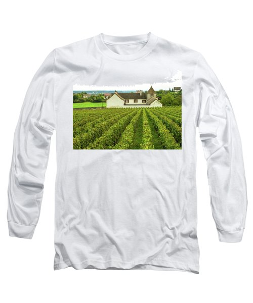 Vineyard In France Long Sleeve T-Shirt by Jim Mathis