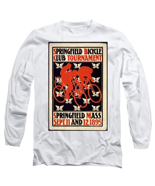 Long Sleeve T-Shirt featuring the photograph Vintage 1895 Springfield Bicycle Club Poster by John Stephens