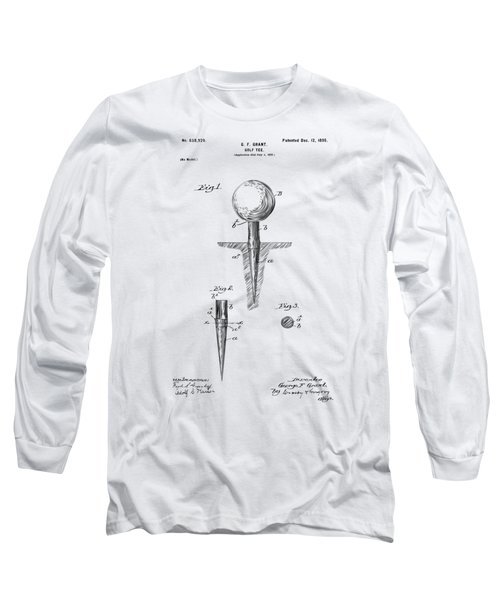 Vintage 1899 Golf Tee Patent Artwork Long Sleeve T-Shirt