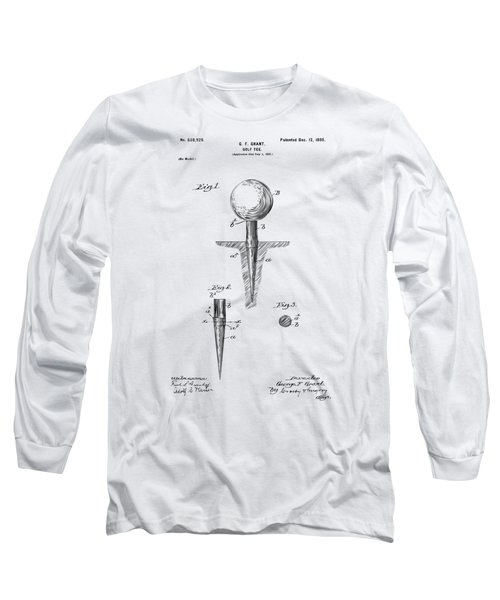 Vintage 1899 Golf Tee Patent Artwork Long Sleeve T-Shirt