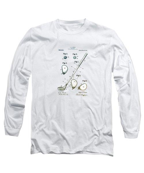 Vintage 1910 Golf Club Patent Long Sleeve T-Shirt
