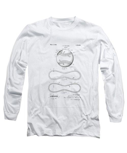 Vintage 1928 Baseball Patent Long Sleeve T-Shirt