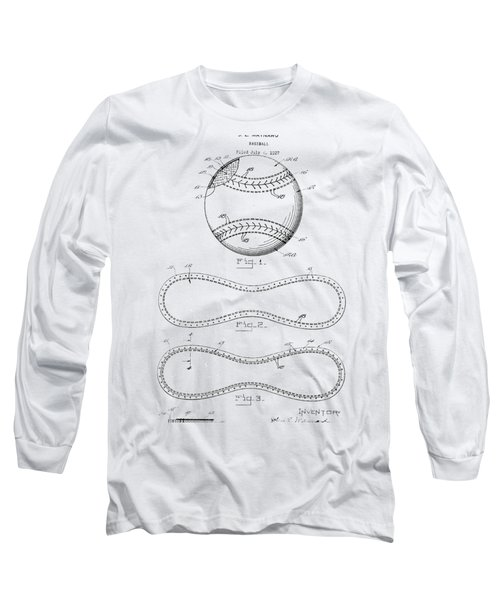 Long Sleeve T-Shirt featuring the photograph Vintage 1928 Baseball Patent by Bill Cannon