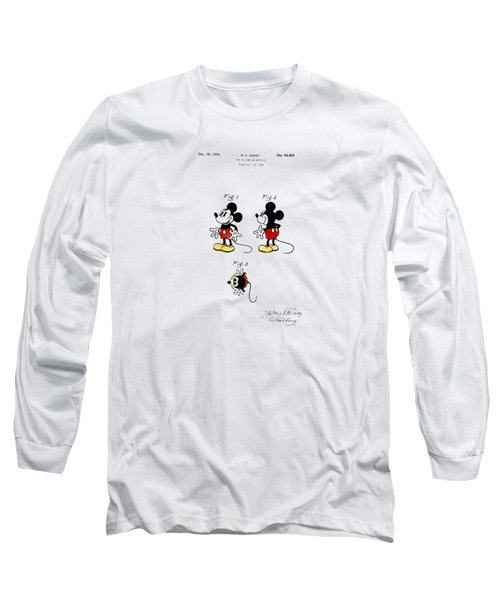 Vintage 1930 Mickey Mouse Patent Long Sleeve T-Shirt