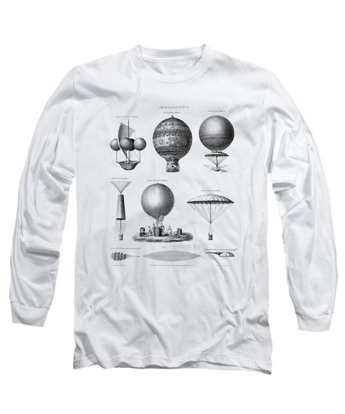 Vintage Aeronautics - Early Balloon Designs Long Sleeve T-Shirt