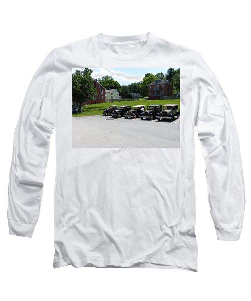 Vintage Auto Display Long Sleeve T-Shirt by Donald C Morgan